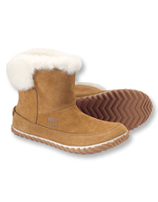 Snow drifts and dropping mercury demand the warmth of suede Out 'N About Booties by Sorel.