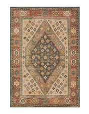 An earthy palette in the Palomas area rug brings saturated color to your favorite room.