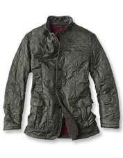Foul weather can't compete with the quilted warmth of the Doister Polarquilt Jacket by Barbour.