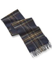 Warm lambswool and a rich tartan earn the Elmwood Scarf by Barbour plenty of attention.