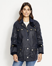 The Icons Bedale Waxed Cotton Jacket by Barbour is a refined update to an original favorite.