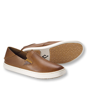 Pehuea Leather Slip Ons by Olukai are slides when you want them, pull-ons when you don't.