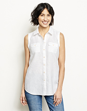 Heat and humidity don't stand a chance against this Lightweight Linen Sleeveless Shirt.