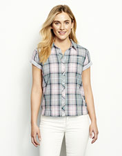 Plaid on the outside, polka dot print on the inside: Our Double-Faced Shirt is twice as nice.
