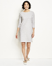 Our ultra-comfortable Classic Striped Tee Dress is brushed to softness and cut to flatter.