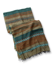 The Waterside Jacquard Scarf's true loomed texture and earthy palette pair with anything.