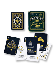 Combine entertainment and outdoor education with the tips in the Campfire Survival Cards deck.