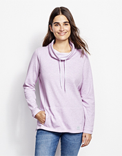 The Journey Cowlneck Sweatshirt features a striped interior so the style can match the comfort.