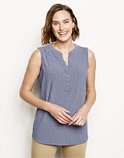 The Journey Popover Sleeveless Top takes you anywhere in moisture-wicking, quick-dry comfort.