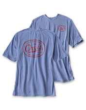 Our Orvis Logo Tee in moisture-wicking drirelease fabric offers cool, dry comfort on hazy days.