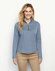 Stripe-And-Print Detail Sweatshirt