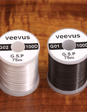 Choose this gel spun fly-tying thread by Veevus to create stronger, less cumbersome flies.