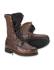 These classic upland hunting boots are handmade in the USA.