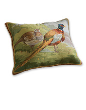 Pheasants Afield Needlepoint Pillow