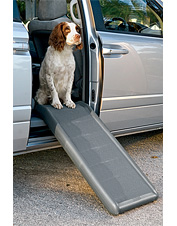 Our dog ramp supports up to 200 lbs. with no bending.