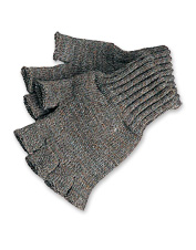 Sporting gentlemen will appreciate the convenience of our wool fingerless gloves.