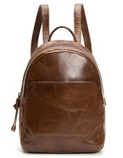 This Frye Melissa Backpack is a medium-sized option for carrying essentials, in soft leather.