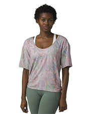 A side tie adds easy style to prAna's ultra-soft Polyjungle Top.