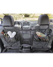 Keep your dog safely out of the car's front seat with this thoughtfully designed barrier.