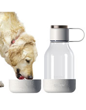 Offer your dog clean water on outings using this lightweight, portable Asobu Bowl Bottle.