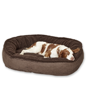 The Orvis Wraparound ComfortFill-Eco fleece dog bed offers your pet plush comfort from day one.