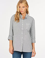 Comfort and cut come together to chic effect in the striped Longshore Shirt from Barbour.