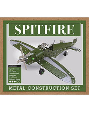 Enjoy happy, focused hours working on this Spitfire fighter jet construction set.