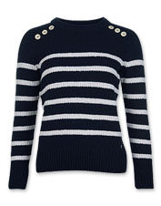 Wear the Barbour Ramble crewneck sweater alone or layered: Its wool-blend knit is extra soft.
