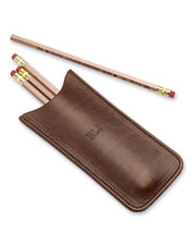 Slim and convenient, this leather No. 2 Pencil Case organizes the essentials in style.