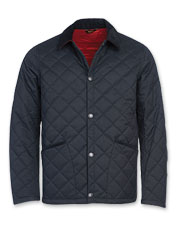 The Barbour Yordel Jacket earns appeal with its refined box quilting and classic details.