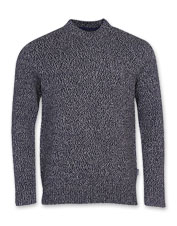 The Barbour Sid is a handsome wool-blend crewneck sweater that layers well in chilly weather.