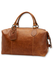Soft, durable, high-quality leather elevates the timeless Frye Logan Overnight Bag.