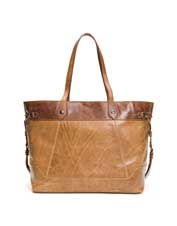 Innovative style shines in the roomy and attractive Frye Melissa Colorblock Carryall bag.