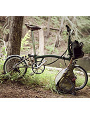 The portable Brompton Superlight Folding Bike is made by hand to the highest standards.