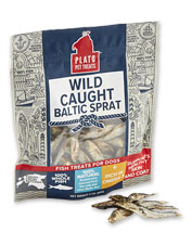 Dogs love the fishy flavor of these Baltic sprats treats, a nutrient-rich source of Omega-3s.