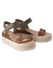 Comfortable Sorel Cameron Flatform Sandals pair well with favorite warm-weather styles.