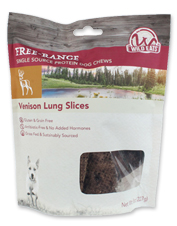 Treat your dog to all-natural, preservative-free venison lung from Wild Eats.