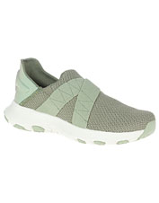 An airy cross knit in these Cloud moccasins from Merrell keeps your feet cool and comfortable.
