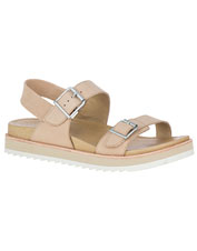Juno Buckle Back-Strap Sandals offer celebrated Merrell comfort in stylish leather.