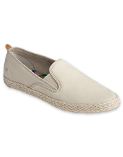 These twin-gore leather-and-jute slip-on shoes feature Sperry's signature comfort and style.