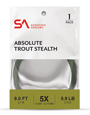 Go green and keep our freshwater clean with the high-performance Absolute Trout Stealth Leader.