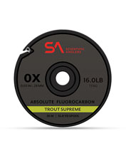 Enjoy supreme performance from the ultra-strong Absolute Trout Fluorocarbon Tippet.