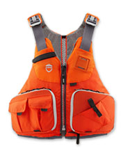 Enjoy unimpeded casting on your next fly-fishing outing in the low-profile Raku PFD from NRS.