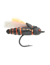 Tempt bass, carp, trout, and other species with the versatile Project Cicada terrestrial fly.
