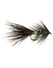 The Barbless Roza's Black and Green Streamer fly is an irresistible tidbit for bigger trout.