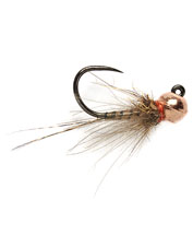 Cast the hefty Barbless Croston's Thread Quill Copper Bead fly to reach the strike zone, fast.