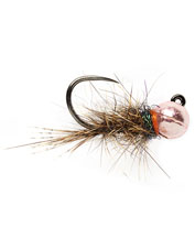 The Barbless Roza's Pink Hare's Ear Jig fly tempts picky fish who prefer natural-looking flies.