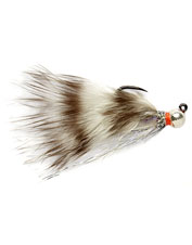 This Barbless Croston's Euro Jig fly features a hefty silver bead for flash and feracity.