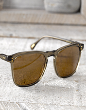 Enjoy decreased glare and 100% UV protection wearing these polarized RAEN Wiley Sunglasses.