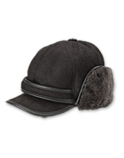Our Shearling Winter Ball Cap is made for superb comfort and style outdoors.